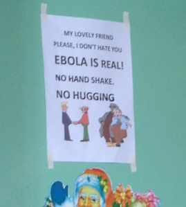 This photo was taken by Epidemic Intelligence Service disease detective Dr. Allison Arwady, MD MPH, when she was in Liberia investigating the Ebola outbreak in July.
